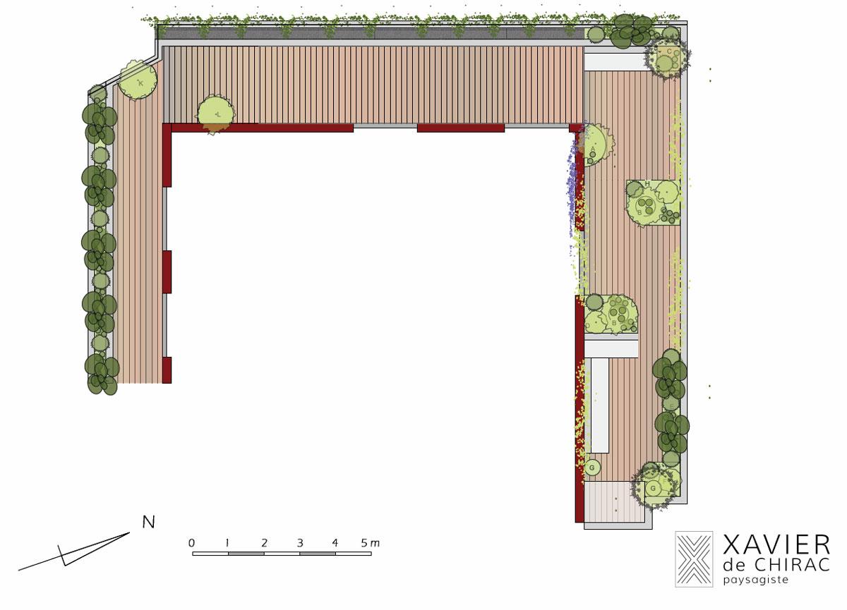 xavier de chirac concept de jardin et terrasse