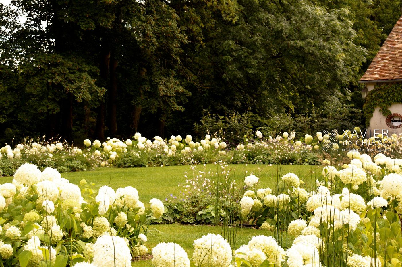 grand jardin blanc