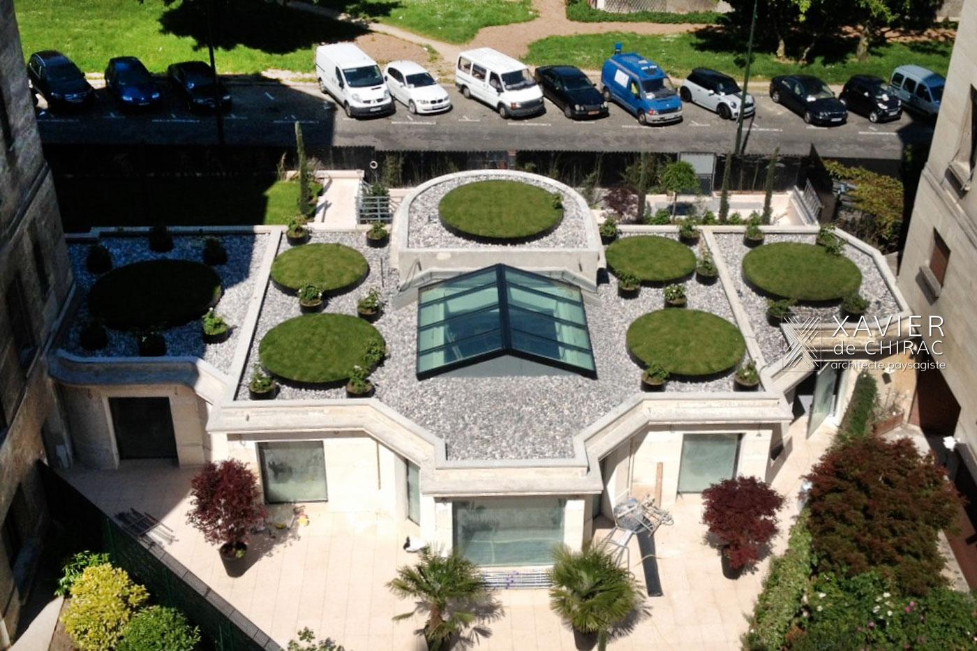 Jardin des 7 cercles de gazon