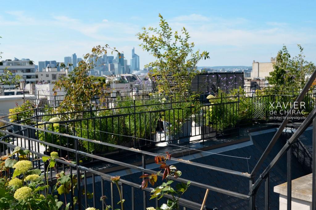 terrasse sur les toits de Paris