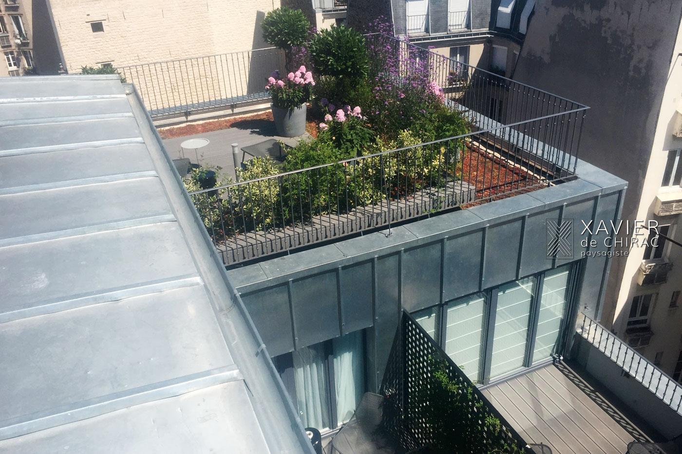 terrasses en bois hôtel Boutet