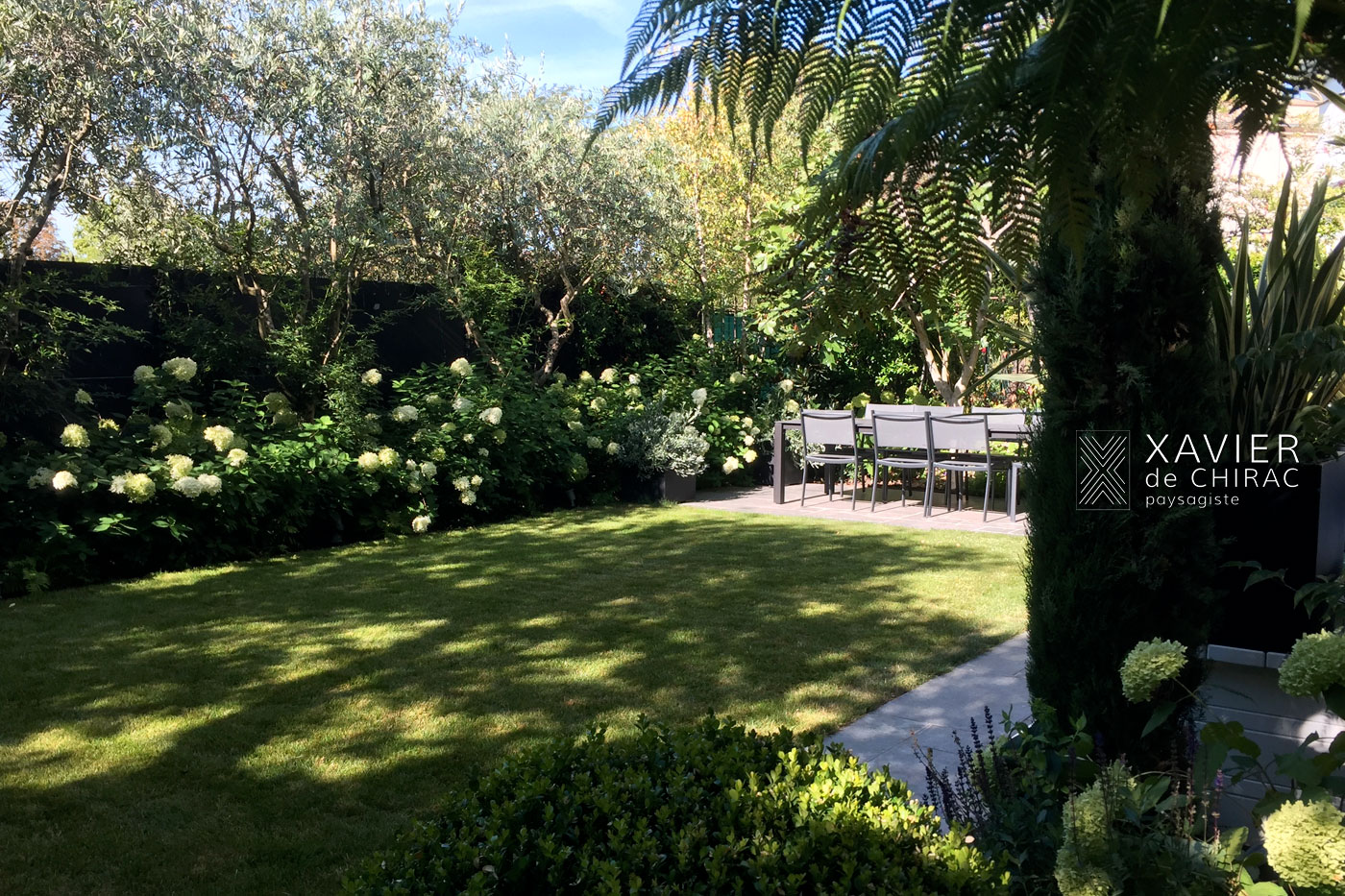jardin urbain de style anglais xavier de chirac paysagiste