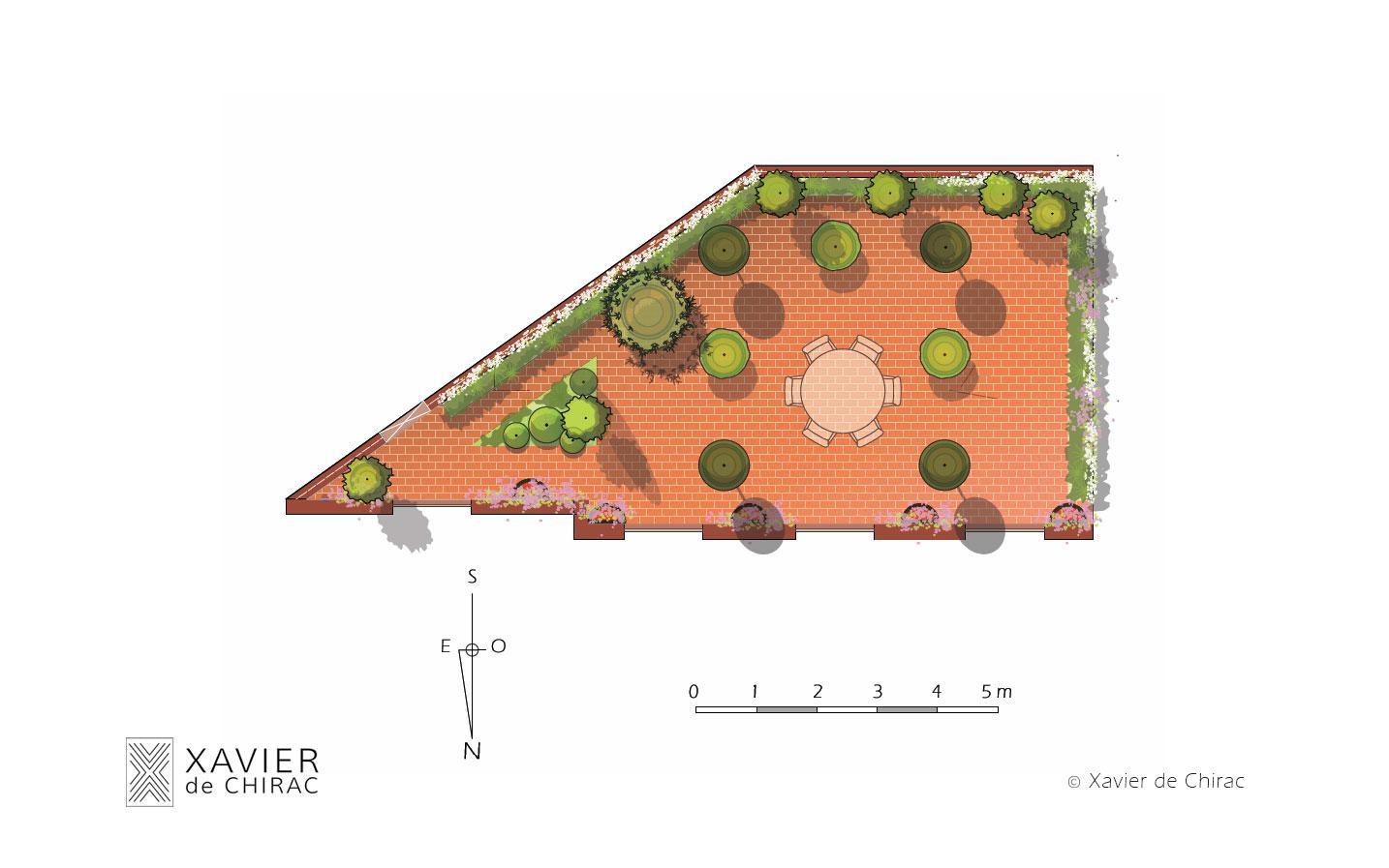 xavier de chirac conception de jardin et terrasse