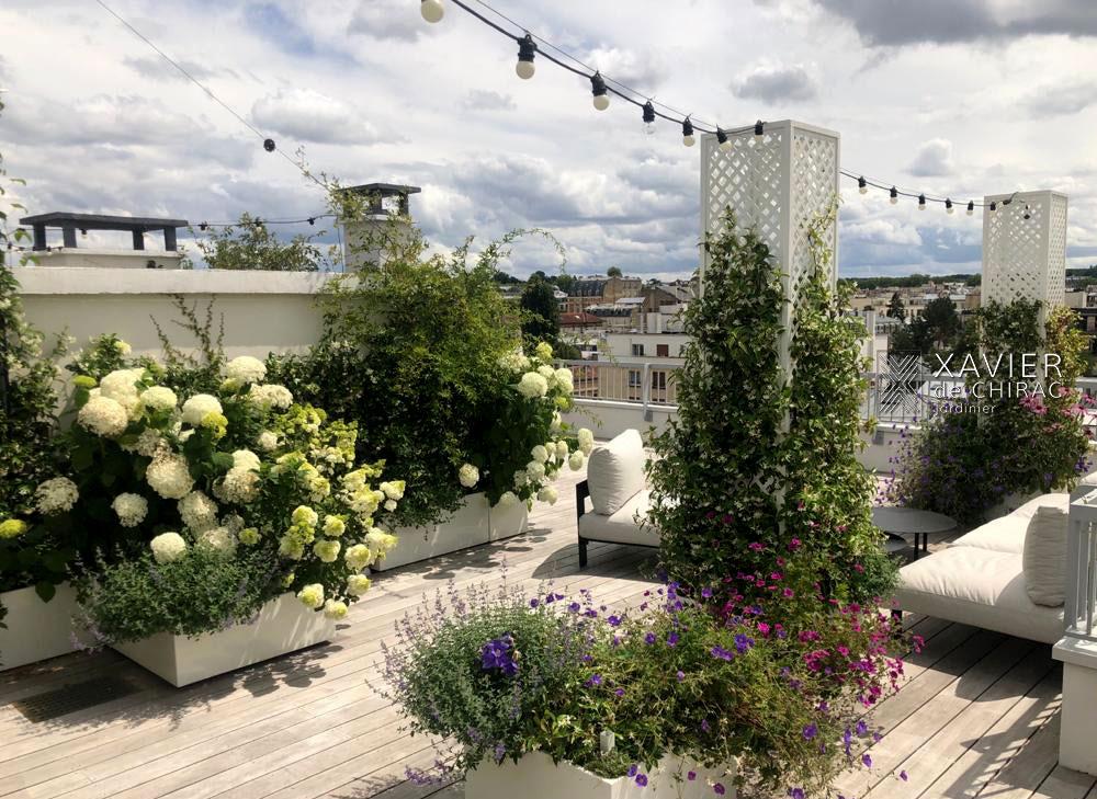 terrasse de style à versailles xavier de chirac paysagiste