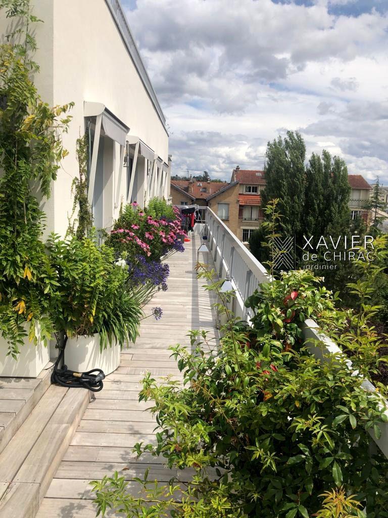 terrasse de style à versailles xavier de chirac jardinier
